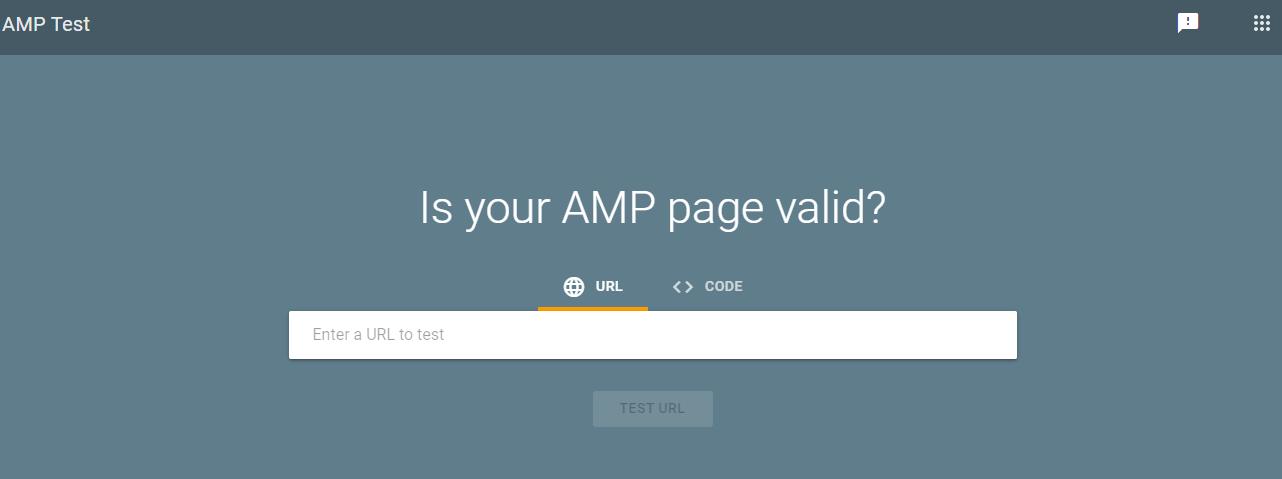 Kiểm tra tính hợp lệ trang AMP