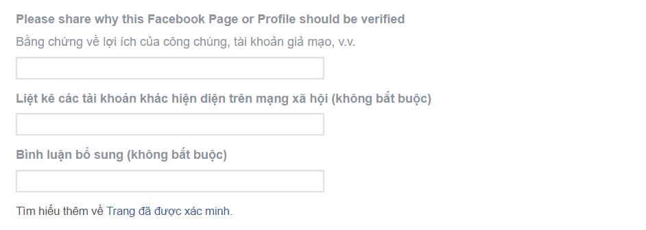 Các bước xác minh trang Facebook 01