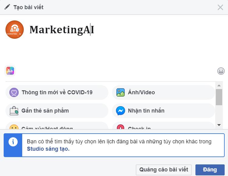 Đăng nội dung chữ đã in đậm trên Facebook