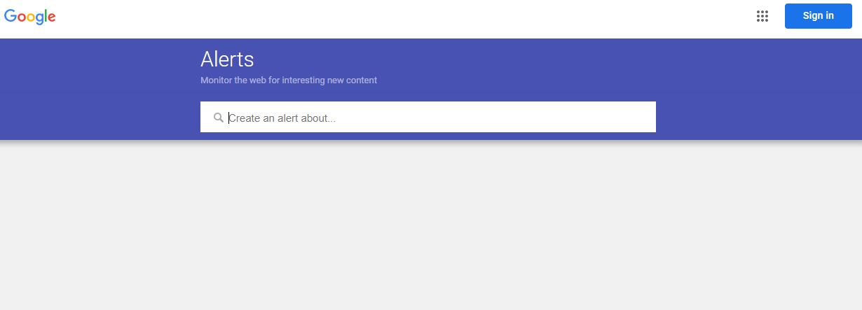 Thiết lập Google Alerts