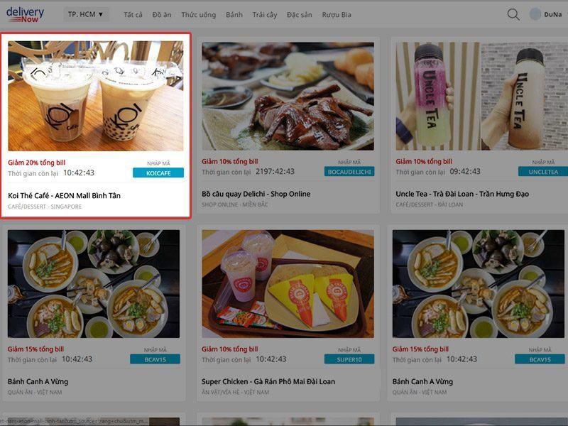 Cập nhật món ăn trên Now giúp khách hàng dễ dàng lựa chọn