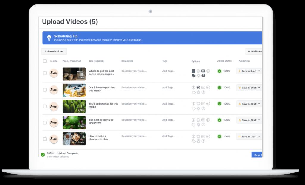 Cách tải video hàng loạt trong Studio sáng tạo