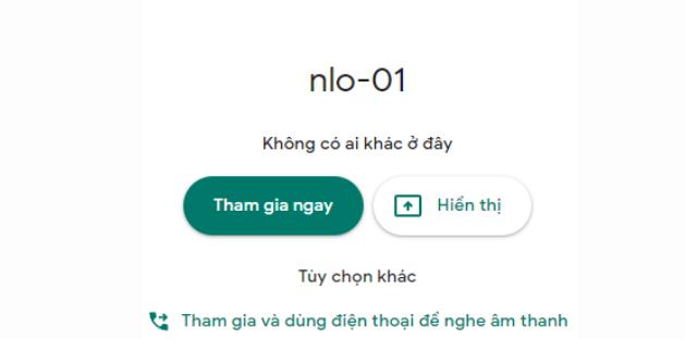 Hướng dẫn sử dụng Google Meet học/ họp trực tuyến 1