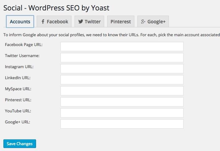 Social WordPress trong Yoast SEO