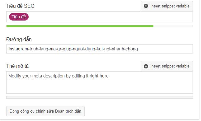 Yoast SEO hỗ trợ tạo Title, Description rất dễ dàng