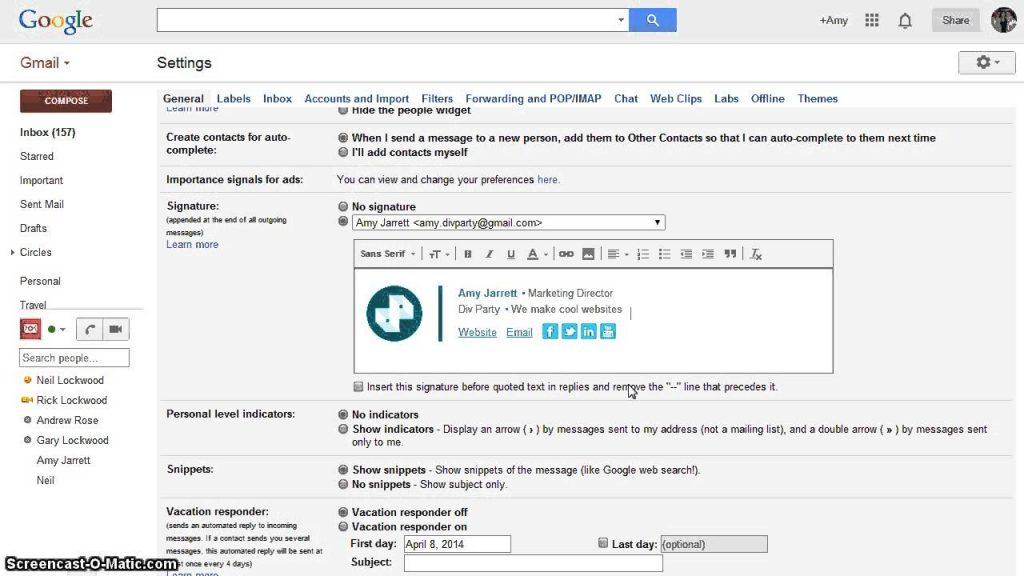 Cách tạo chữ ký Email trực tiếp trên Gmail 1
