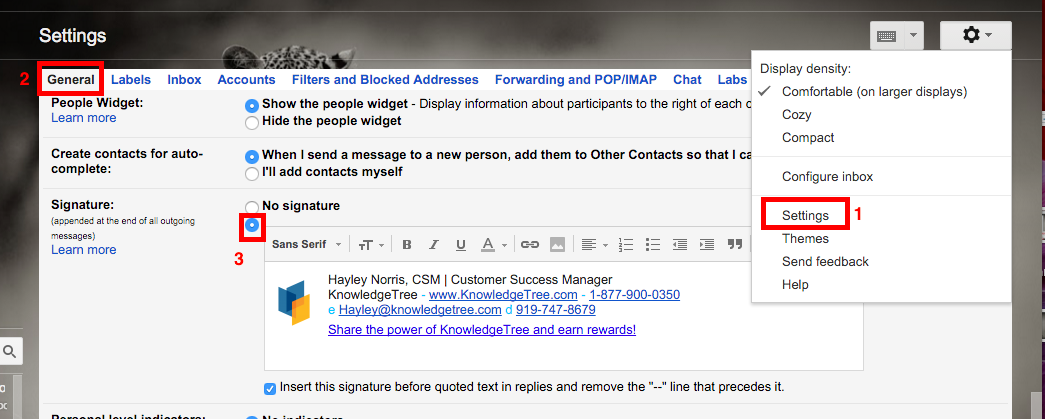 Cách tạo chữ ký Email trực tiếp trên Gmail
