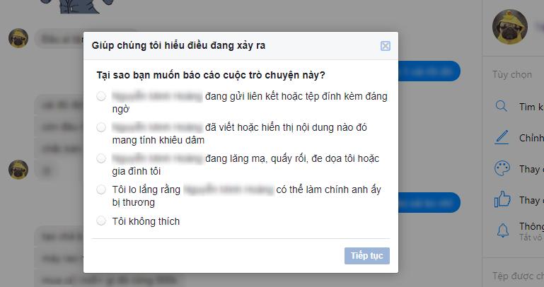 Cách chặn tin nhắn spam trên messenger 1