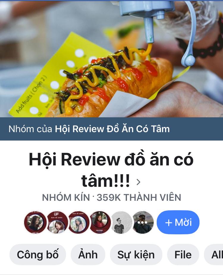 group chuyên đưa ra feedback về ăn uống nổi tiếng trên facebook