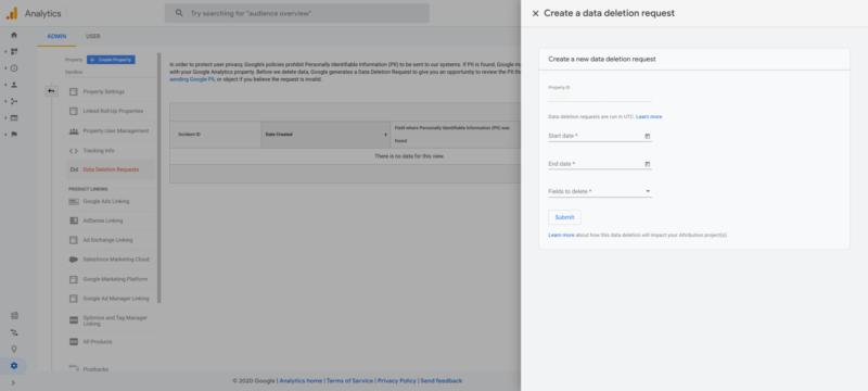 Google Analytics data deletion controls 800x360 1