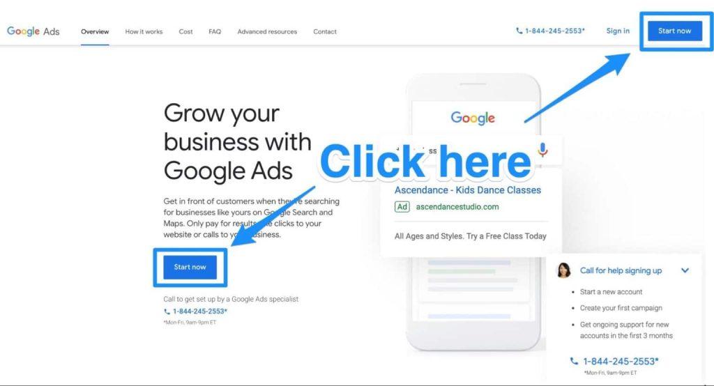 Cách quảng cáo trên Google 01