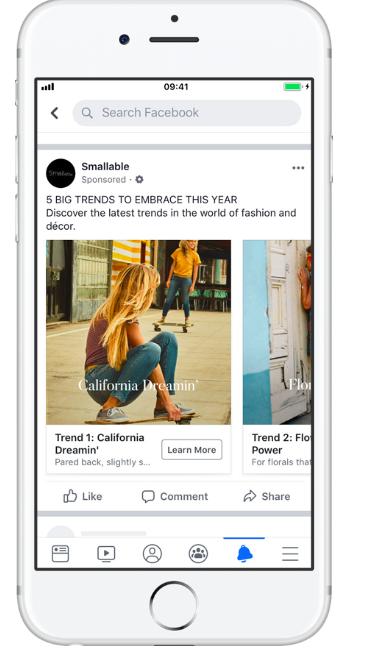 Các loại quảng cáo Facebook - Dynamic ads
