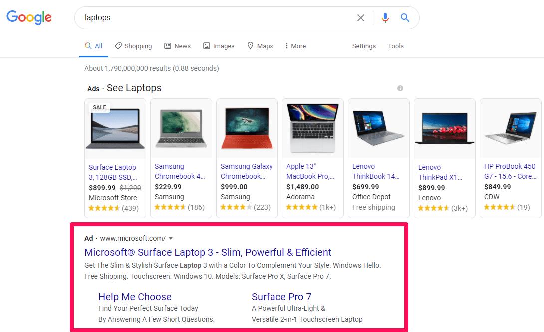 Các loại quảng cáo của Google 01