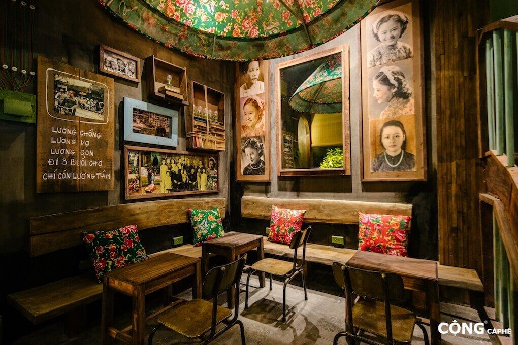 Nhượng quyền thương hiệu cafe Cộng và một góc đậm chất thơ tại Cộng Cà phê