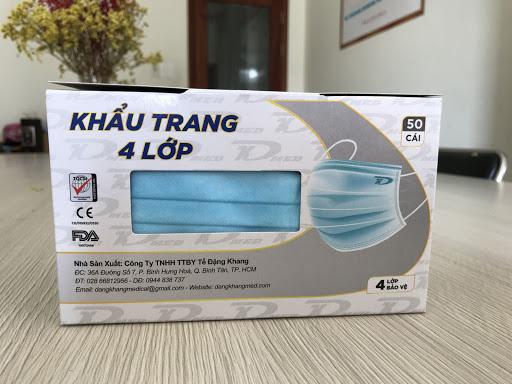 Khẩu trang y tế 4 lớp Đặng Khang