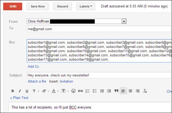 Điền những email bạn cần bcc