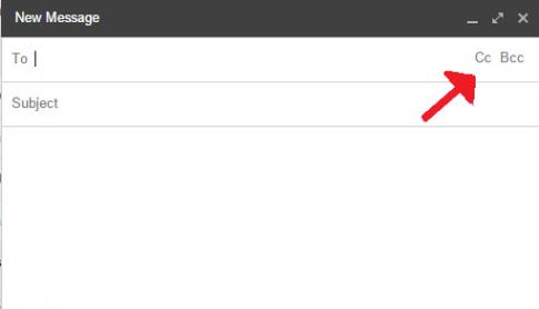 Cách gửi cc trong email